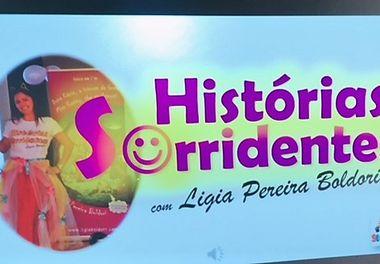 EB1 da Abelheira recebe a hora do conto Histórias Sorridentes com Ligia Boldori
