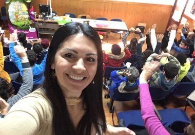 Agrupamento de Escolas D Afonso III em Faro recebe as Histórias Sorridentes com Ligia Boldori (4ºano)