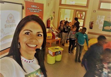 """Escola EB1/J1 da Abelheira - Quarteira recebe """"Histórias Sorridentes com Ligia Boldori"""""""