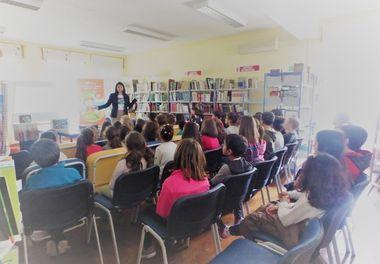 Agrupamento de Escolas de Montenegro recebe a autora Ligia Boldori durante a Semana da Leitura